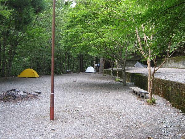 二重かずら橋キャンプ場全体図