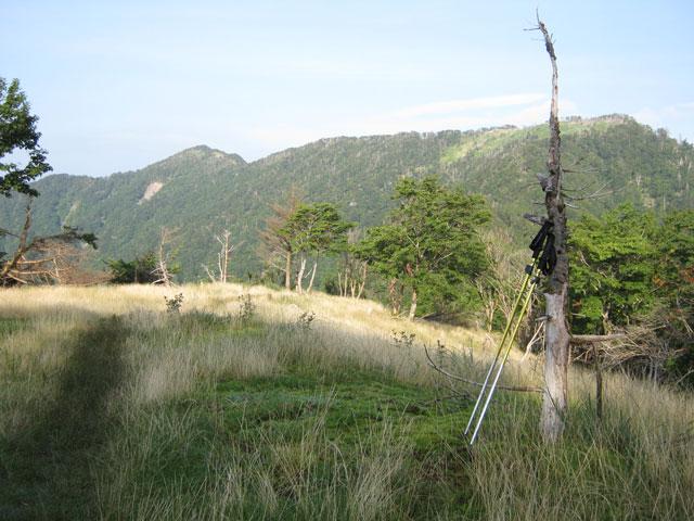 三嶺までの稜線